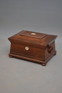 Antiques Atlas - William IV Sarcophagus Work Box In Rosewood