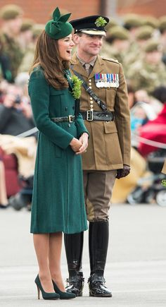 The Duchess of Cambridge on St. Patrick's Day 2014.