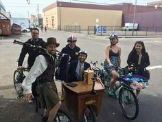 Pedal powered talk show with the Unipiper