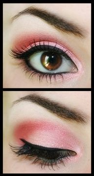 pink and brown eyes