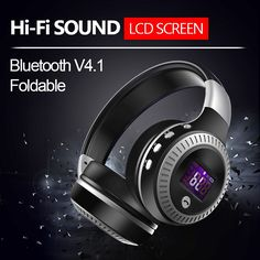 27.44$  Watch now - http://aivph.worlditems.win/all/product.php?id=32777436654 - 2017 High Quality Wireless Bluetooth Headphone Stereo Headset for iPhone Samsung Xiaomi,FM Radio TF Card Mic AUX MP3 LCD Display