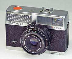 Agfa Silette LK. Cámara para película tipo 135 de fines de 1970