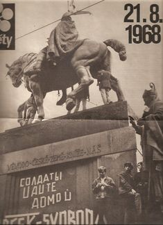 Saint Wenceslas, Prague cover of Magazine Kvety; during Prague Spring Macedonia, Old Pictures, Old Photos, Prague Spring, Heart Of Europe, Communism, Lost & Found, Woodstock, Czech Republic