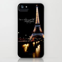 Paris is Always a good idea - Audrey Hepburn Quote iPhone Case by Dustin Hall - $35.00