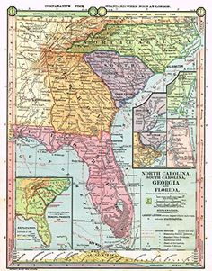 Worksheet. Atlas of the United States County Map of North Carolina South