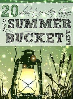 Summer Hygge Ideas Summer Bucket List