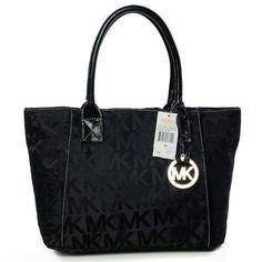 b0087dfa Michael Kors Jet Set Logo Large Black Totes Handbags Michael Kors, Mk  Handbags, Handbags