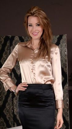 Sexy Blouse, Satin Blouses, Kate Hudson, Girls Wear, Satin Dresses, Catsuit, Leather Skirt, Lingerie, Silk