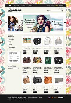 Handbag Boutique PrestaShop Themes by Di
