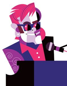 """Elton John"" by Pablo Lobato. [Graphic Design Illustration]"