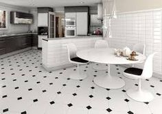 Beautiful Tile Floors ceramic tile. installed on a 45 degree angle, with clipped corner