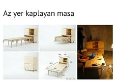 Capstan Tisch, Verstecktes Bett, Erweiterbarer Tisch, Esstische, Wohnen,  Couches, Folding Furniture, Kleine Räume, Schreibtisch