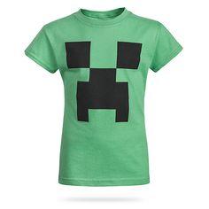 Minecraft Creeper Girls' Tee