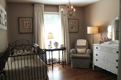 This is such a beautiful design and has a great mix of new and old. #nursery