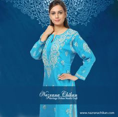 25cd210466 Indian Attire, Kurtis, Designer Wear, Delivery, Tunic Tops, Indian Clothes. Nazrana  Chikan