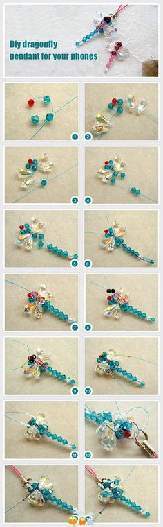 Easy to make dragonfly pendant. Credits to Repiny http://www.repiny.com/pin-7465.html