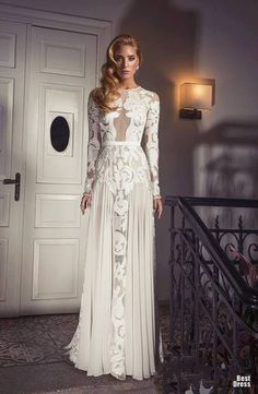 Sexy and Extravagant Wedding Dresses by Dany Mizrachi . Extravagant Wedding Dresses, Sheer Wedding Dress, Wedding Dresses 2014, Beautiful Wedding Gowns, Wedding Attire, Lace Wedding, Fabulous Dresses, Bridal Gowns, Designer Dresses