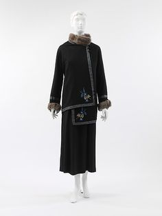 """Steppe"" Paul Poiret (French, Paris 1879–1944 Paris) Date: 1912 Culture: French Medium: silk, wool, fur, cotton Dimensions: Length at CB: 31 in. (78.7 cm) Credit Line: Catharine Breyer Van Bomel Foundation Fund, 2005"