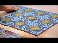 ▶ Cuerda Seca Decorative Tile by Fireclay Tile - YouTube