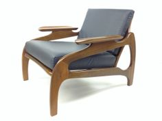 """RARE FIND - Adrian Pearsall Design Mid-century  solid Teak Lounge chair  Adrian Pearsall inspired design catered to your home choose your wood and your fabric to best fit your home MADE IN QUEBEC D: chair 31x32.5x27 / seat 23"""" / back 16x23""""  Model: AP-INC-001BL Price upon request  Visit our website at www.2021inc.ca - """"THECHAIR"""" for spec options or contact us"""