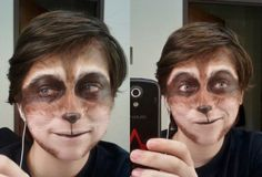 Raccoon Makeup by Frosty-Rain on DeviantArt Halloween 2015, Halloween Make Up, Halloween Costumes, Halloween Face Makeup, Raccoon Makeup, Animal Makeup, Rocket Raccoon Costume, Rocket Costume, Costume Makeup