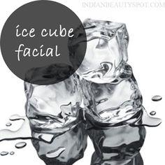 Ice Cube Facial - keep acne and wrinkles at bay - natural beauty DIY