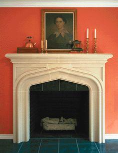 Custom Cast Stone Fireplace   Master Bedroom   Pinterest   Cast ...