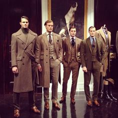 """ivy-league-style: """"Some decent Ivy fall wear by Polo Ralph Lauren """" Sharp Dressed Man, Well Dressed Men, Mode Masculine, Look Fashion, Mens Fashion, Fashion Trends, Fashion Styles, Fashion Photo, Fashion Clothes"""