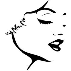 Face Silhouette | Womans Face Outline People Wall Art Stickers Wall Decal Transfers ...