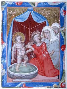 Hungarian Anjou legendary single leaves, - Images from Medieval and Renaissance Manuscripts - The Morgan Library & Museum Trojan War, Plantagenet, Morgan Library, Medieval Manuscript, Alexander The Great, Canopies, 14th Century, Bologna, Renaissance