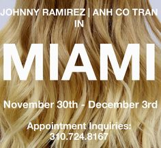Mister AnhCoTran: ANH IS COMING BACK TO MIAMI!