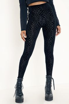 Burned Velvet HW Leggings BM in 2021 | Essential dress