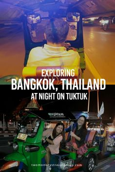 Exploring Bangkok, Thailand at Night on Tuktuk Bangkok may have cars and trains now, with the latter as the most favored mode of transportation around the city, but nothing beats the tuktuk when it comes to experience. So for my first trip to Bangkok, I knew that I just can't miss the opportunity to ride this three-wheeled taxi that can take you just about anywhere.