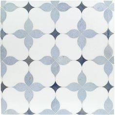 "Eveningstar Marble Tile 11x11"" - Blue & Navy Blue 
