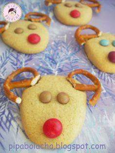 Pipa Bolacha: Renas com pretzels e smarties