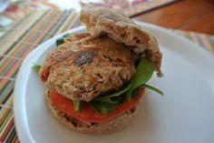 Simple Tuna Burgers with Pimento Mayo