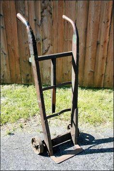Vintage Antique Transport 2 Wheel Dolly Steel Hand Truck