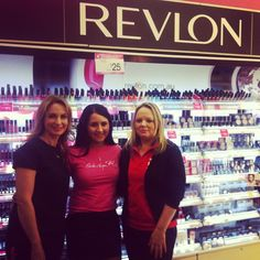 wonderful ladies at Top Ryde Priceline puckered up to support Bright Pink Lipstick Day & Pink Hope.