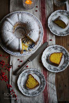 Turmeric milk and cardamom bundt cake by RebeckaGSendroiu