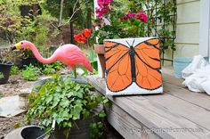 Take a plain concrete paver and easily turn it into garden art.  I it is useful too, they make wonderful garden stepping stones. [media_id:3371333] Start with a…