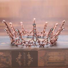 Vintage Baroque Round Crown Bridal Wedding Hair Accessories Crystal Rhinestone Big Hair Jewelry Wedding Pageant King Queen Tiara by Comebackshop on Etsy Royal Tiaras, Tiaras And Crowns, Royal Crowns, Crown Royal, Hair Jewelry, Wedding Jewelry, Jewelry King, Craft Jewelry, Jewellery Box