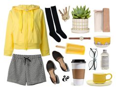 """Hello Yellow"" by rheeee ❤ liked on Polyvore featuring Monki, Abercrombie & Fitch, adidas, People Will Always Need Plates, J.Crew, Pietro Alessandro, Jansen+Co and Aesop"