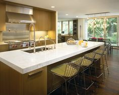 Gorgeous Residence Interior in Classic-Modern Theme : Gorgeous Kitchen Design White Countertop North Shore Residence