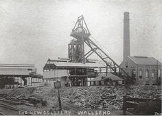Sep 2017 - A postcard today showing the New Colliery, Wallsend which was later called the Rising Sun Pit or Colliery. The photo is from Wallsend is in Tyne and Wear, England. The Colliery Engineering publication in Dec 1935 wrote: \ North East England, Coal Mining, Slums, British History, Old Photos, Vintage Photos, British Isles, Newcastle, Paris Skyline