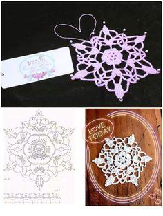 Ipek Kerman Şen's media content and analytics Crochet Snowflake Pattern, Crochet Stars, Crochet Motifs, Christmas Crochet Patterns, Crochet Snowflakes, Crochet Flower Patterns, Tatting Patterns, Thread Crochet, Filet Crochet