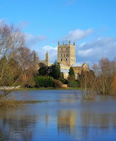 Tewkesbury Abbey, Gloucestershire, England, my 28x's great grandparents Gilbert de Clare, 4th Earl of Gloucester  Lady Isabella Marshall married here on 9 Oct 1217