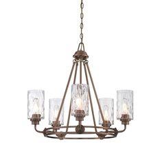 Designers Fountain Gramercy Park 5-Light Old Satin Brass Interior Incandescent Chandelier