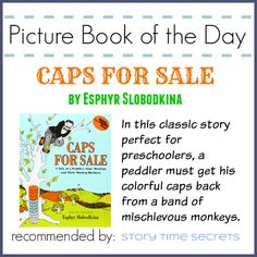 My choice for today's Picture Book of the Day is Caps for Sale! Visit this post for fun learning activities to accompany the book by clicking image. From @mrskatiefitz