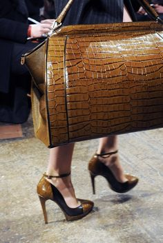 Her shoes matched her handbag ... Donna Karan,