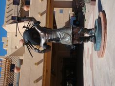 Bronze Buffalo Dancer at Buffalo Thunder Casino North of Santa Fe, NM, I know the artist!! He's a wonderful guy!!